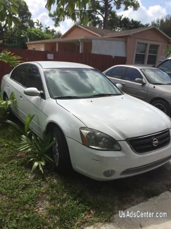 2002 Nissan Altima White Cars For Sale In Miami Florida