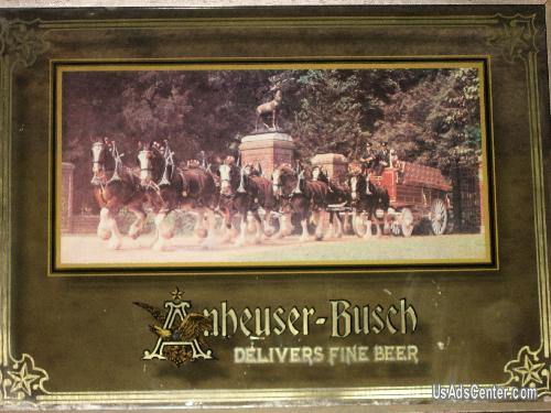 Picture of Very Rare Budweiser Clydesdale Mirror from George Nathan Associates